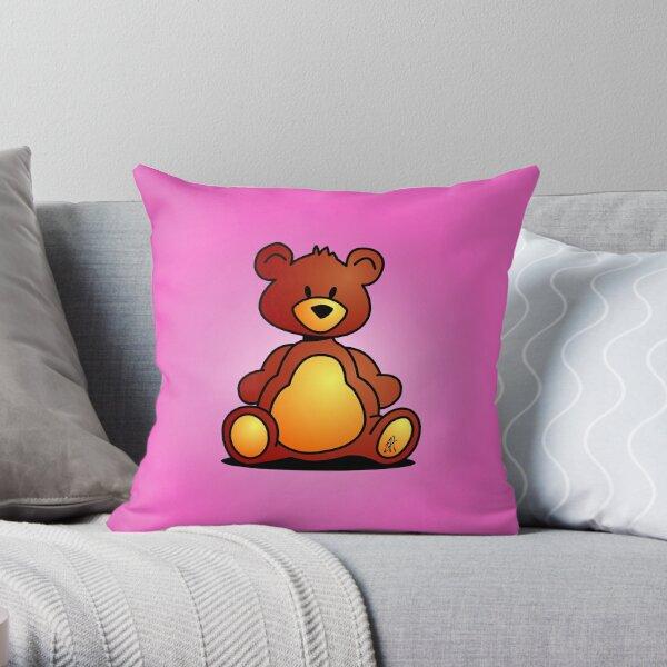 Cuddly Teddy Bear Throw Pillow
