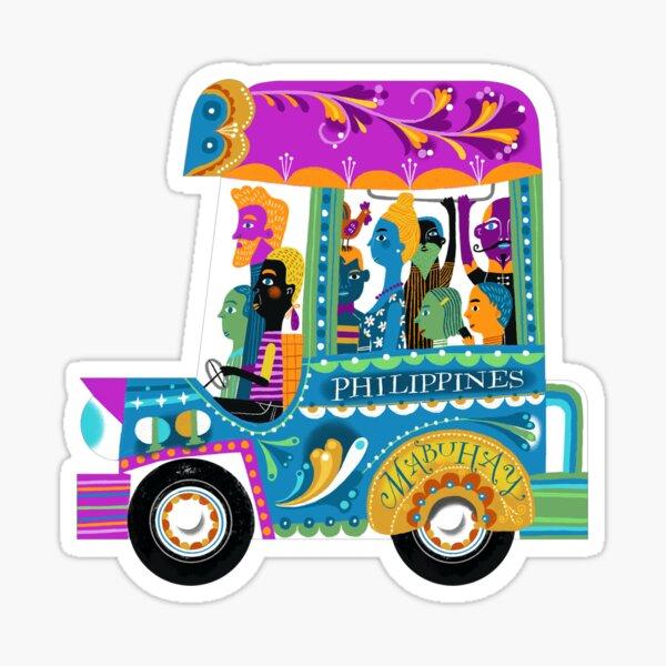 Mabuhay jeepney illustration by robert alejandro Sticker