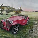 A Hawker Hurricane and an MG by JohnLowerson