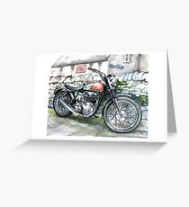 BSA GOLDSTAR TRIALS MOTORCYCLE Greeting Card