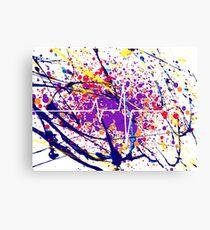 Splatter Heart Canvas Print