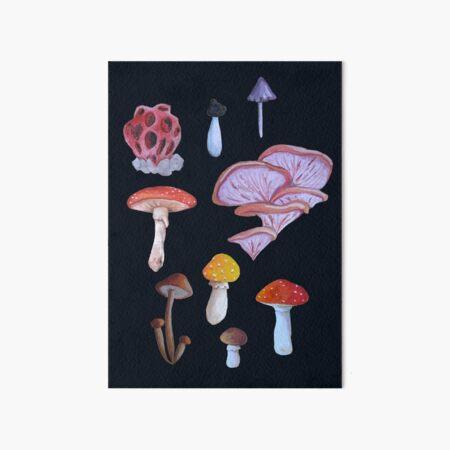 Fungus Print Art Board Print