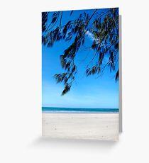 an aussie beach Greeting Card