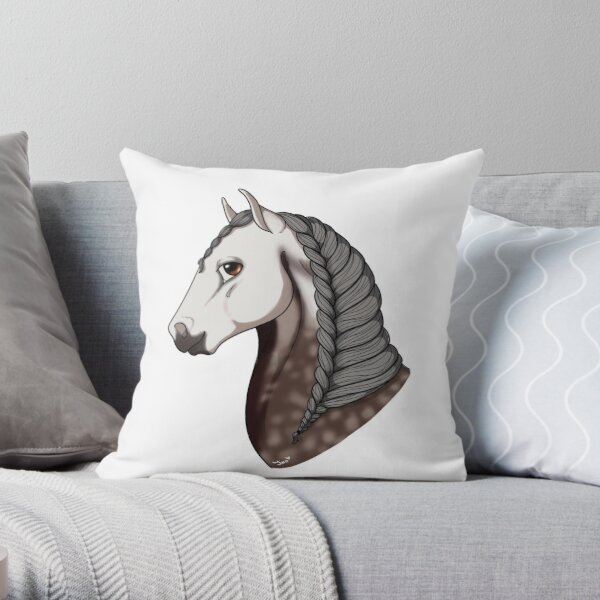 Dapple Grey Andalusian Throw Pillow