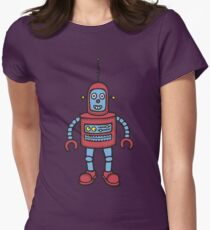 Baby Robot Womens Fitted T-Shirt