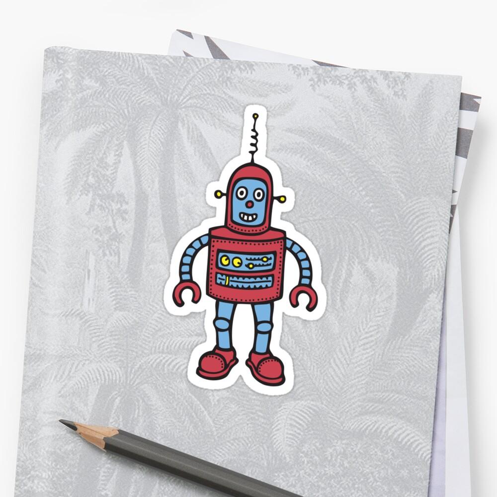 "Dukepope: ""Baby Robot"" Stickers By Dukepope"