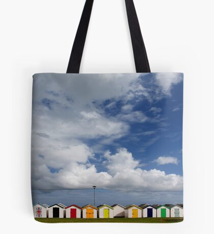Beach Huts, Torbay, England Tote Bag