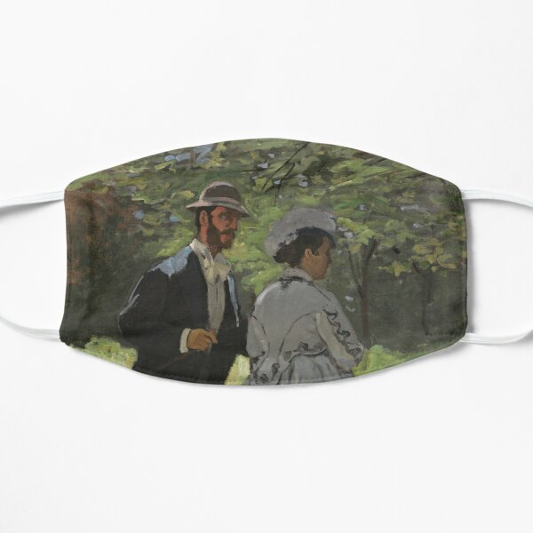 Bazille and Camille Painting by Claude Monet Flat Mask