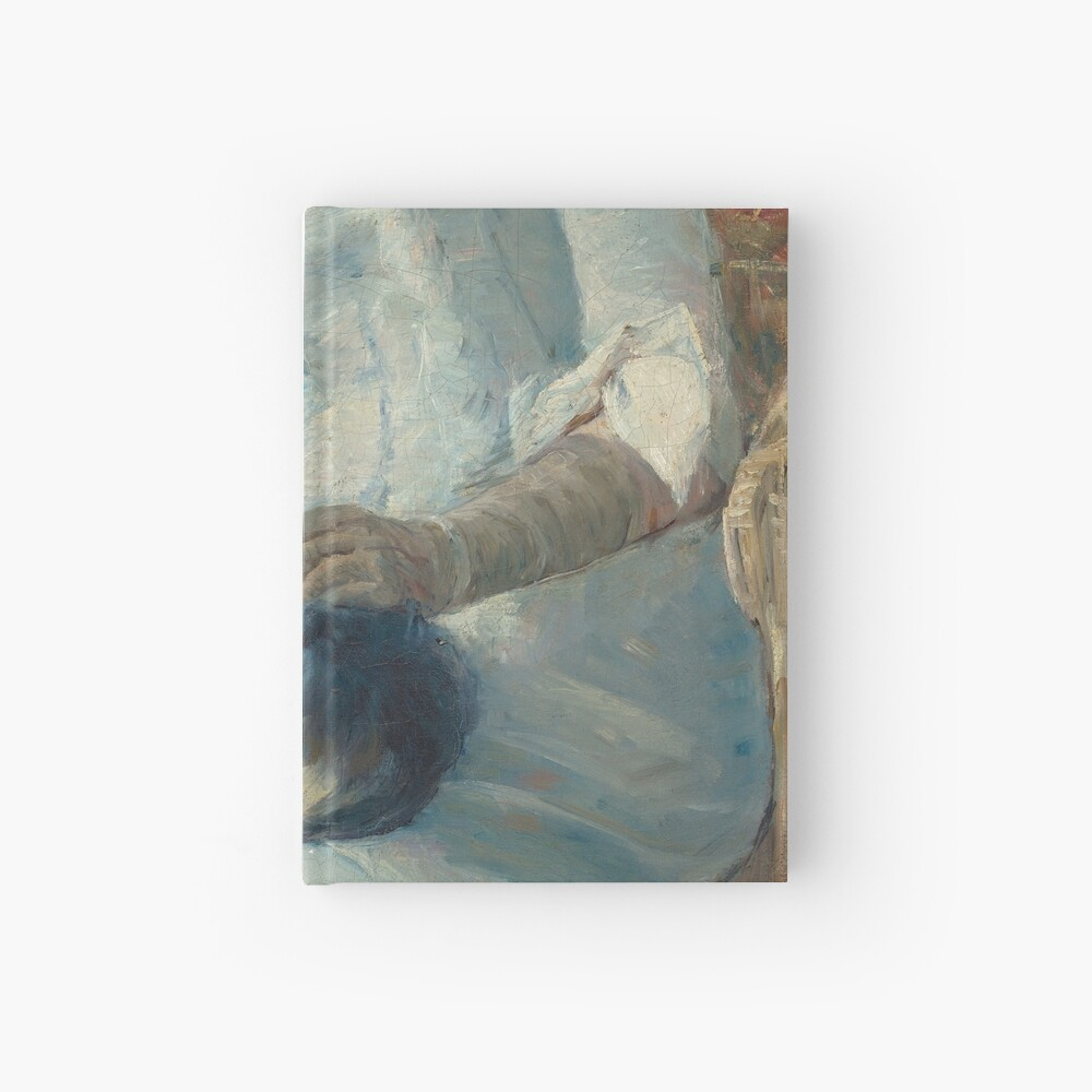 Young Girl at a Window With Dog Oil Painting by Mary Stevenson Cassatt Hardcover Journal