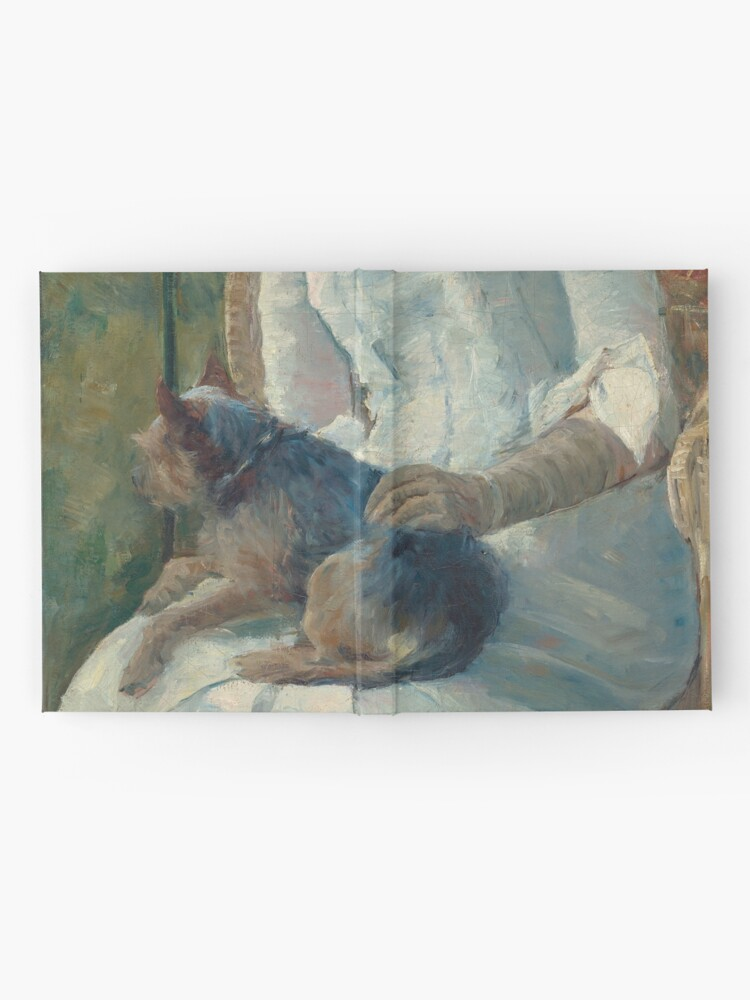 Alternate view of  Young Girl at a Window With Dog Oil Painting by Mary Stevenson Cassatt Hardcover Journal