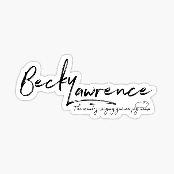 Becky Lawrence (Guinea Pig Mama) logo Sticker