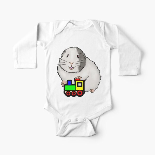 Cavy Train Long Sleeve Baby One-Piece