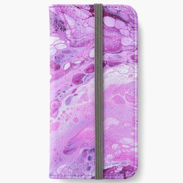 pink bubbles iPhone Flip-Case