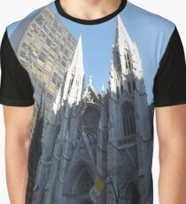 Camiseta gráfica St. Patricks Cathedral and Reflection, 5th Avenue, New York City