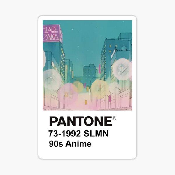 PANTONE 90s Anime (4) Sticker