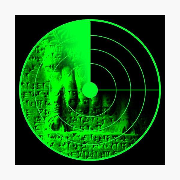 Sumerian Bag Radar Photographic Print