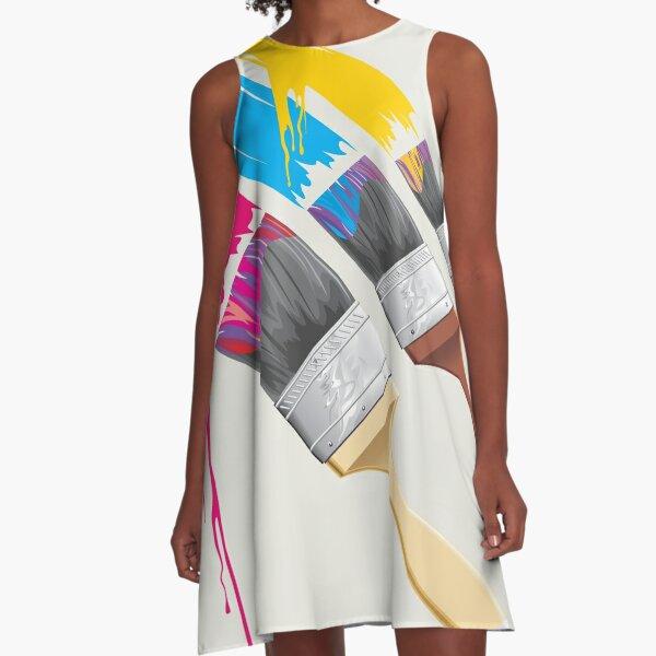 Paint Brush A-Line Dress