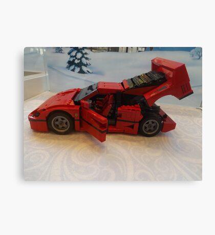 Lego Ferrari, Lego Rockefeller Center Store, Rockefeller Center, New York City Canvas Print