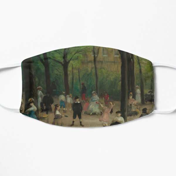 Luxembourg Gardens Oil Painting by William James Glackens Flat Mask