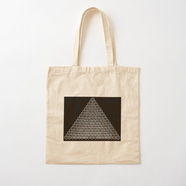 In mathematics, Pascal's triangle is a triangular array of the binomial coefficients Cotton Tote Bag