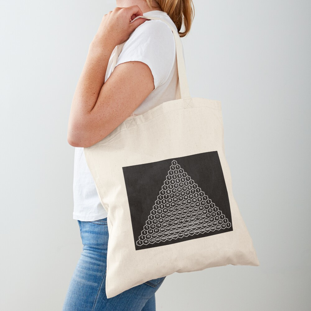 In mathematics, Pascal's triangle is a triangular array of the binomial coefficients Tote Bag