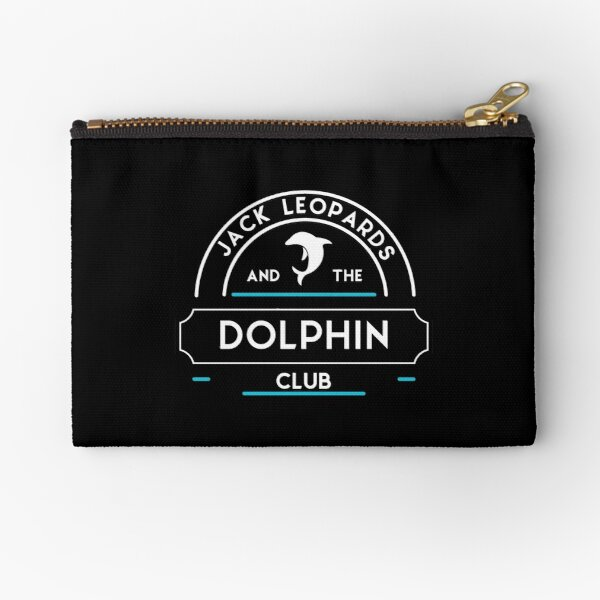 Jack Leopards and the Dolphin Club Zipper Pouch