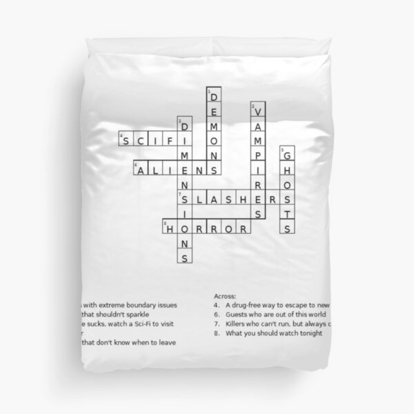 Westcoast Strange Crossword  Duvet Cover