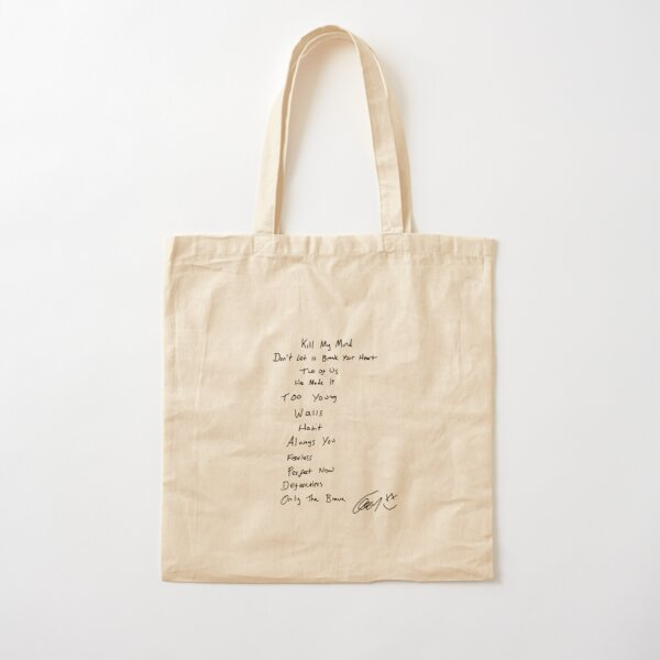 WALLS TRACK LIST // LOUIS TOMLINSON Cotton Tote Bag