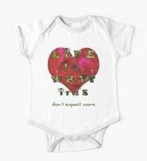 Life is what it is - Love - hearts - typography art Kids Clothes