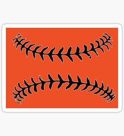 Baltimore Baseball Stitch Design Sticker