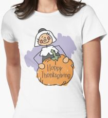 Happy Thankgiving Women's T-Shirt Womens Fitted T-Shirt