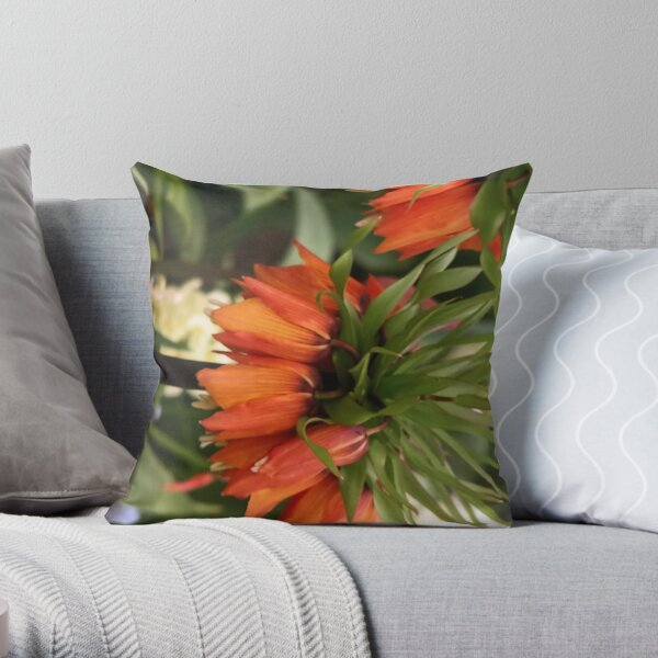 Carrot looking flowers Throw Pillow