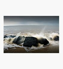Crashing waves long exposure  Photographic Print