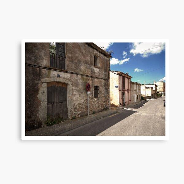 High Street of S'Arracó Canvas Print