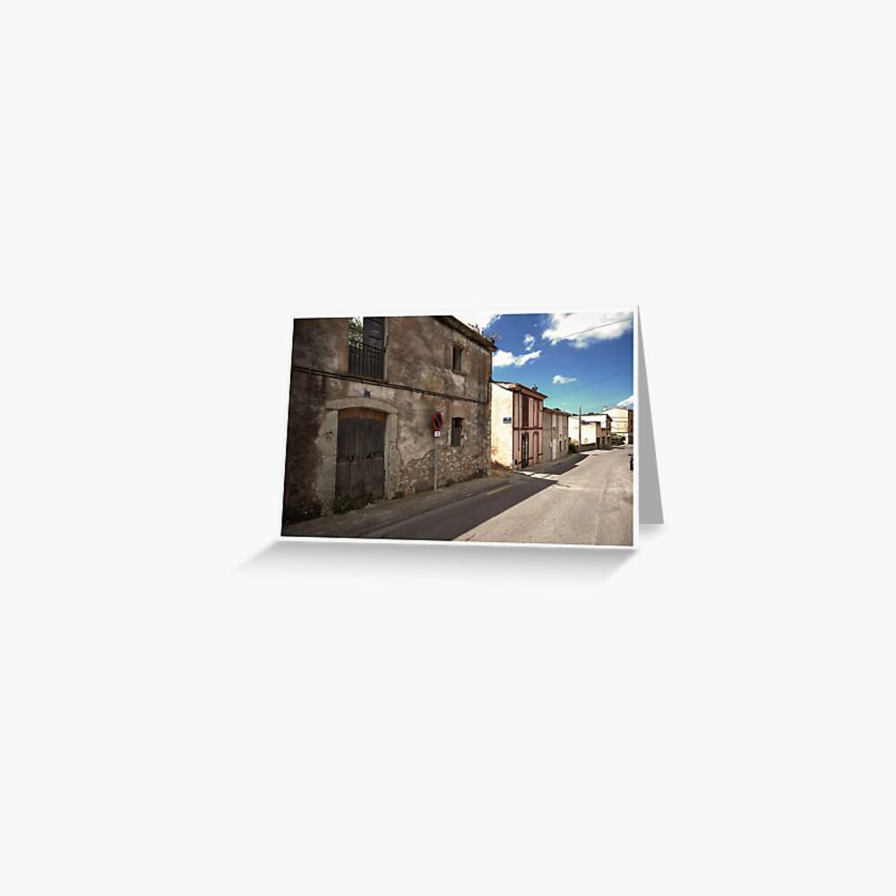 High Street of S'Arracó Greeting Card