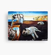Persistence of Pugs Canvas Print