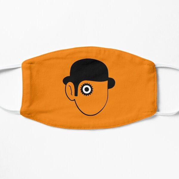 Une horloge orange - icône à l'intérieur du cercle orange Masque sans plis