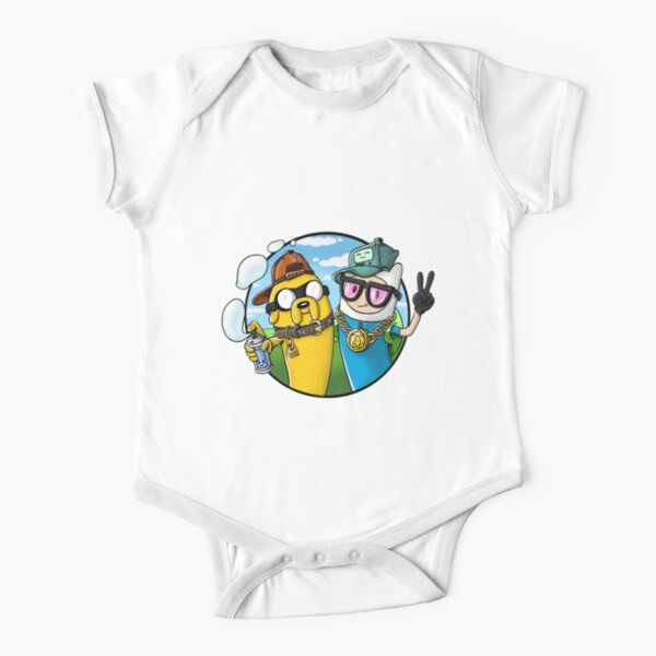 Adventure Time - Graffiti Time Short Sleeve Baby One-Piece