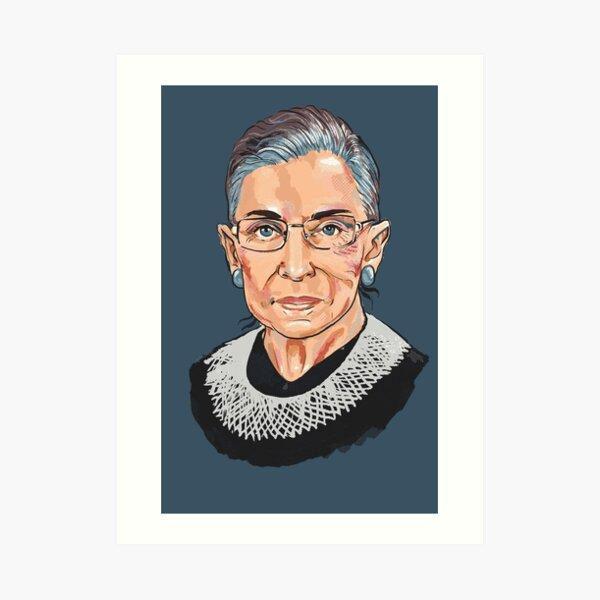 Supreme Court Justice Ruth Bader Ginsburg Art Print