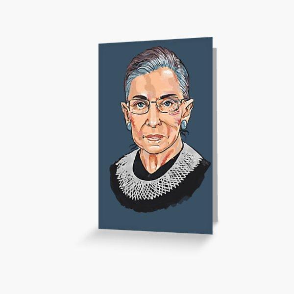 Supreme Court Justice Ruth Bader Ginsburg Greeting Card