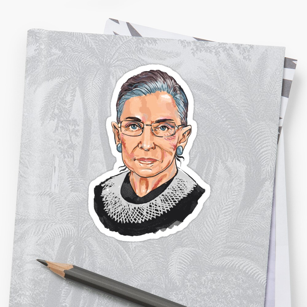 Quot Supreme Court Justice Ruth Bader Ginsburg Quot Stickers By
