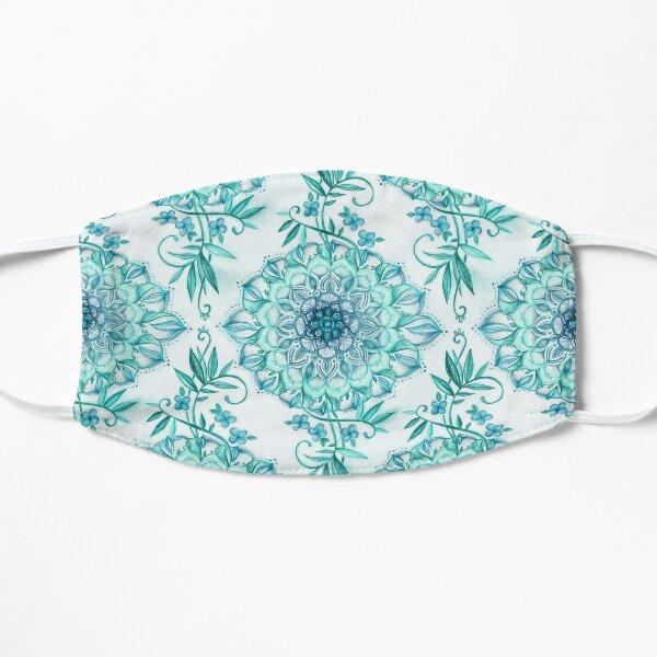 Mint and Teal Boho Nature Mandala Mask