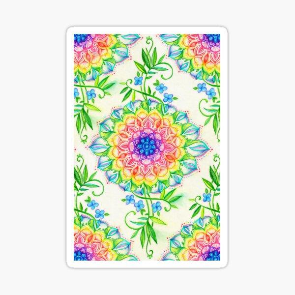 Midsummer Bright Boho Mandala Sticker