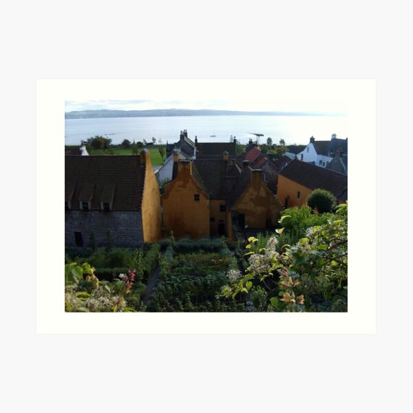 Mary Luke Garden in Culross Art Print