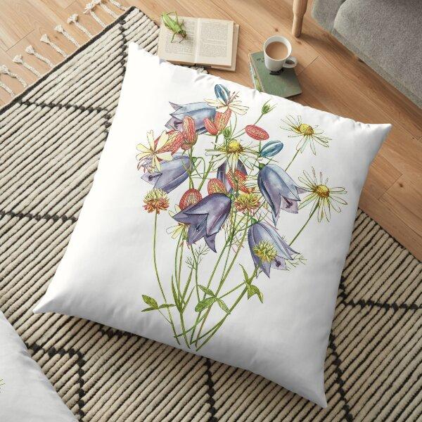 Wildflowers & Gardenflowers Floor Pillow
