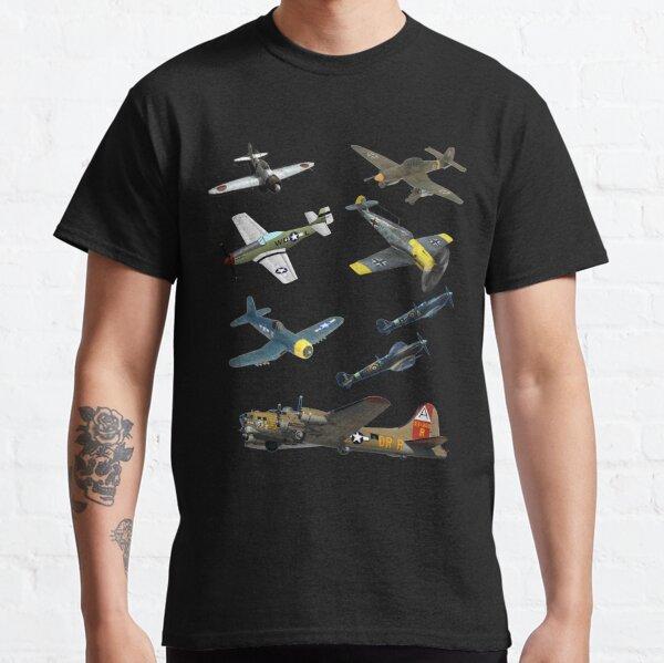Famous WW2 Planes Warbirds P51 Mustang Spitfire Messerschmitt� Classic T-Shirt