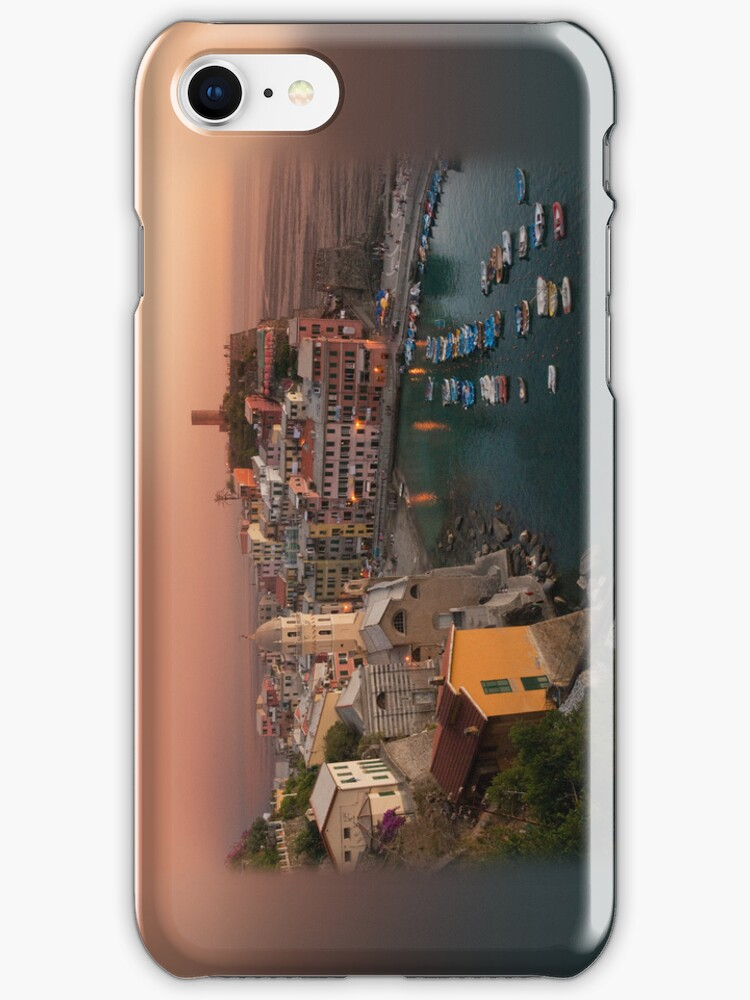Vernazza - Cinque Terre - Italy, Apple iphone 4 4s, iPhone 3Gs, iPod Touch 4g case by lapart