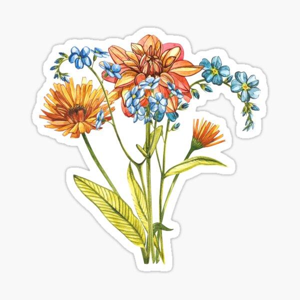Wildflowers & Gardenflowers Sticker