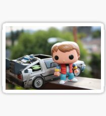 Marty Mcfly Delorean Sticker