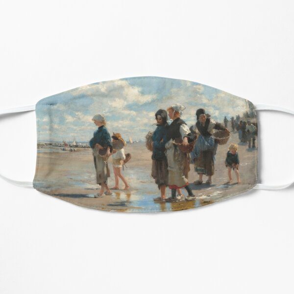 Setting Out to Fish Oil Painting by John Singer Sargent Flat Mask
